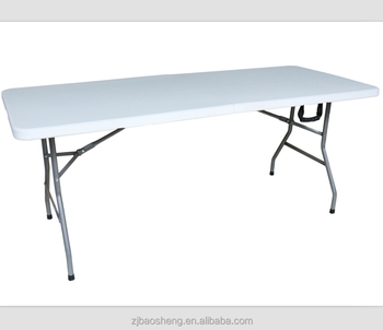 18m party picnic dining plastic folding table hdpe blow molding folding table - Plastic Folding Tables