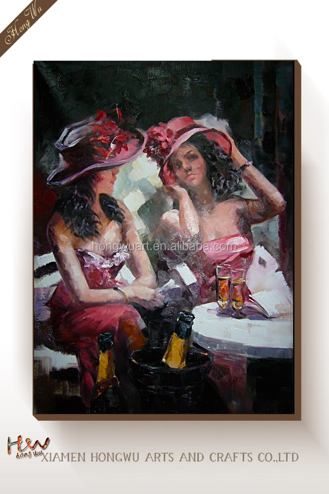 Impressional Figure Famous Two Bar Girls Sexy Women Cavas Wall Oil Painting Art Reproduction