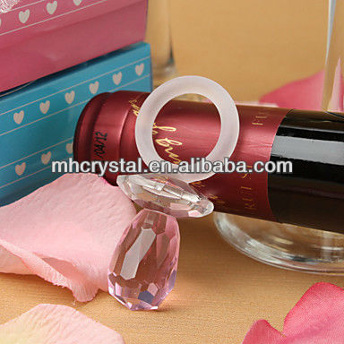 Pink Crystal Pacifier Baby Shower Favor MH-D0293