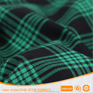 21s 100% Cotton brushed tartan plaid fabric for garment