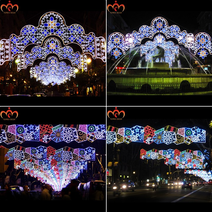 Shopping Mall Decor Christmas Led Street Decoration Motif