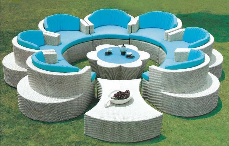 Top Sell Outdoor Furniture Outdoor Sofa Set Wicker Sofa