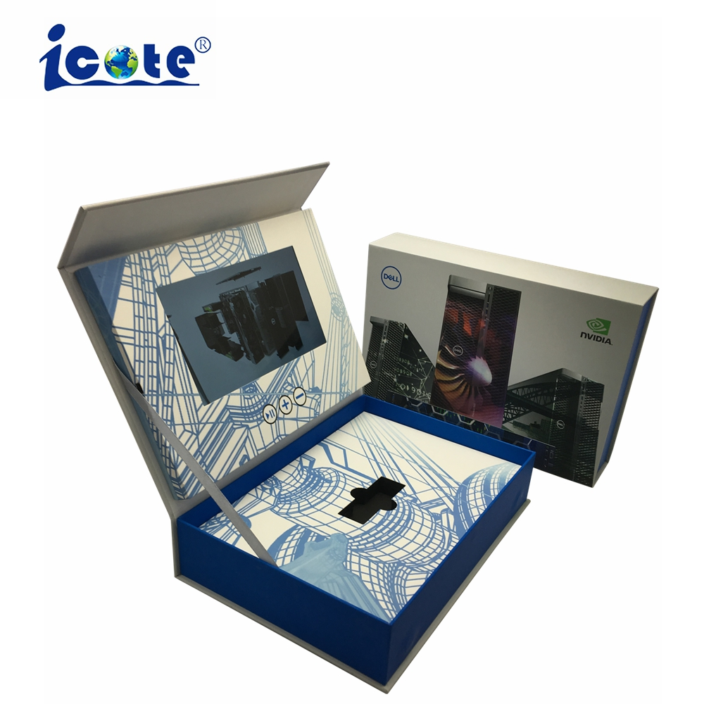 Cote New Arrival China Company Products Leather Video Brochure For Wedding