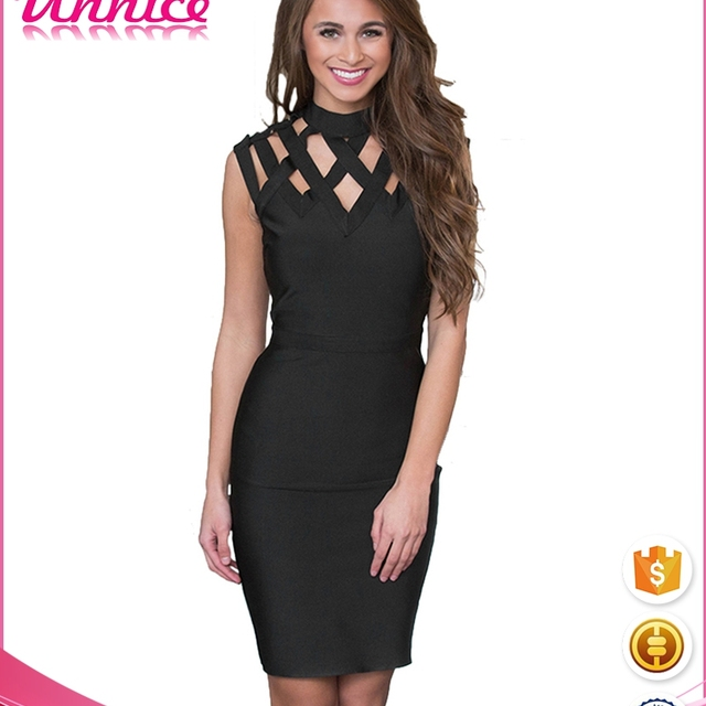 8a62739064282 2017 Women s Sexy Wholesale Bodycon Dress Hollow Out Party Dress Clubwear