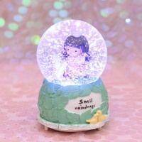 2019 Melody snowing glitter Led musical custom made souvenir Christmas resin glass snow globe