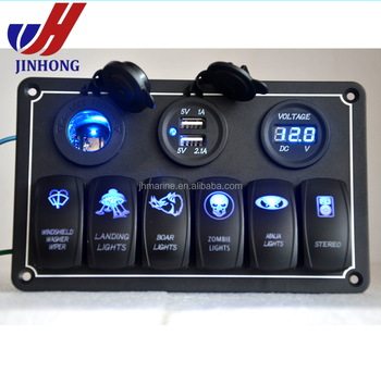 Meeres Jeep Boot Automotive Kippschalter Panel Mit 12 V Usb-buchse ...