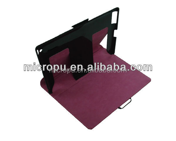 high quality fashion microfiber pu leather handles cover for ipad