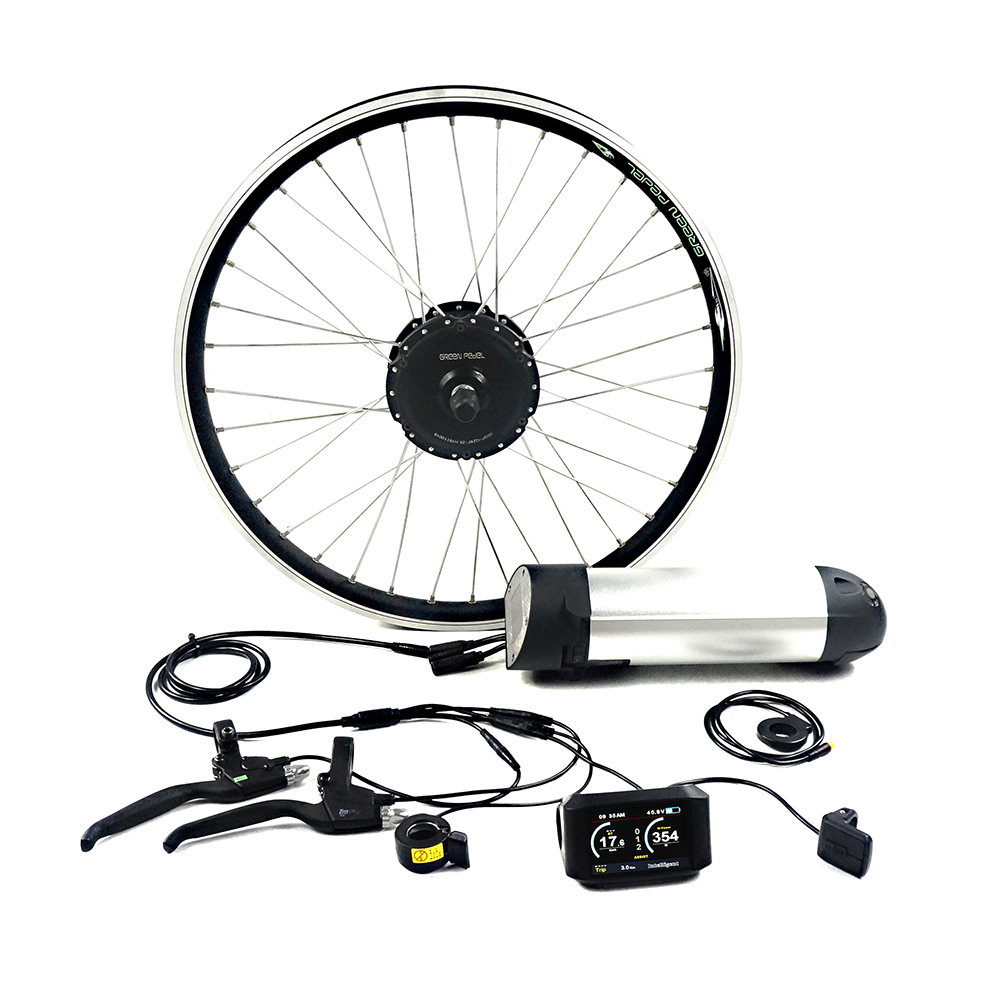 GreenPedel europe standard 36v 250w 350w 26 inch 20 inch electric bicycle motor kit, Black+silver