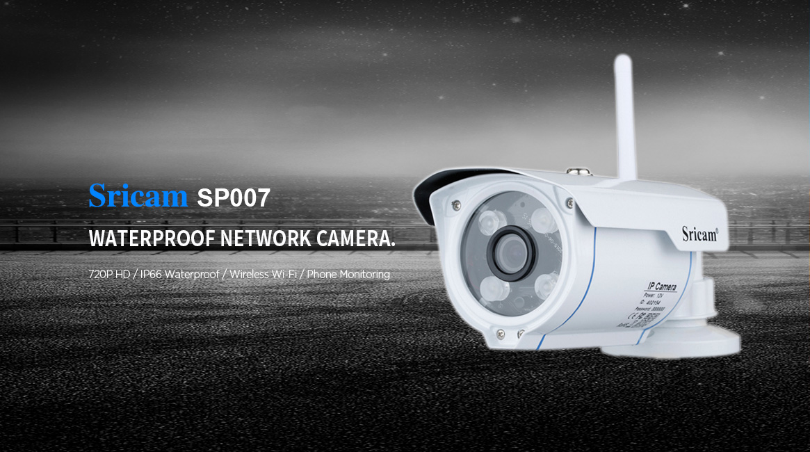 Outdoor Waterproof Bullet Wifi/Wireless HD 720P ip camera support 128G MicroSD Card