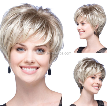 Synthetic Hair Short Bob Hairstyle Wigs For Black Women Best Straight Bob  Blonde Wigs Glueless Synthetic c98370fee5