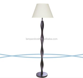 America And Canada Style Floor Lamp Black Mdf Wood Base With Ul ...