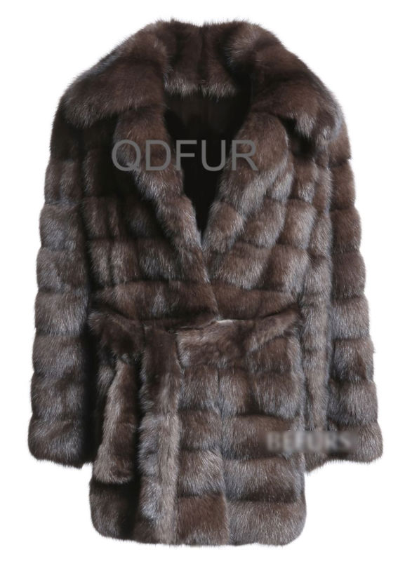 QD23124 Russia High Quality Sable Fur Coat