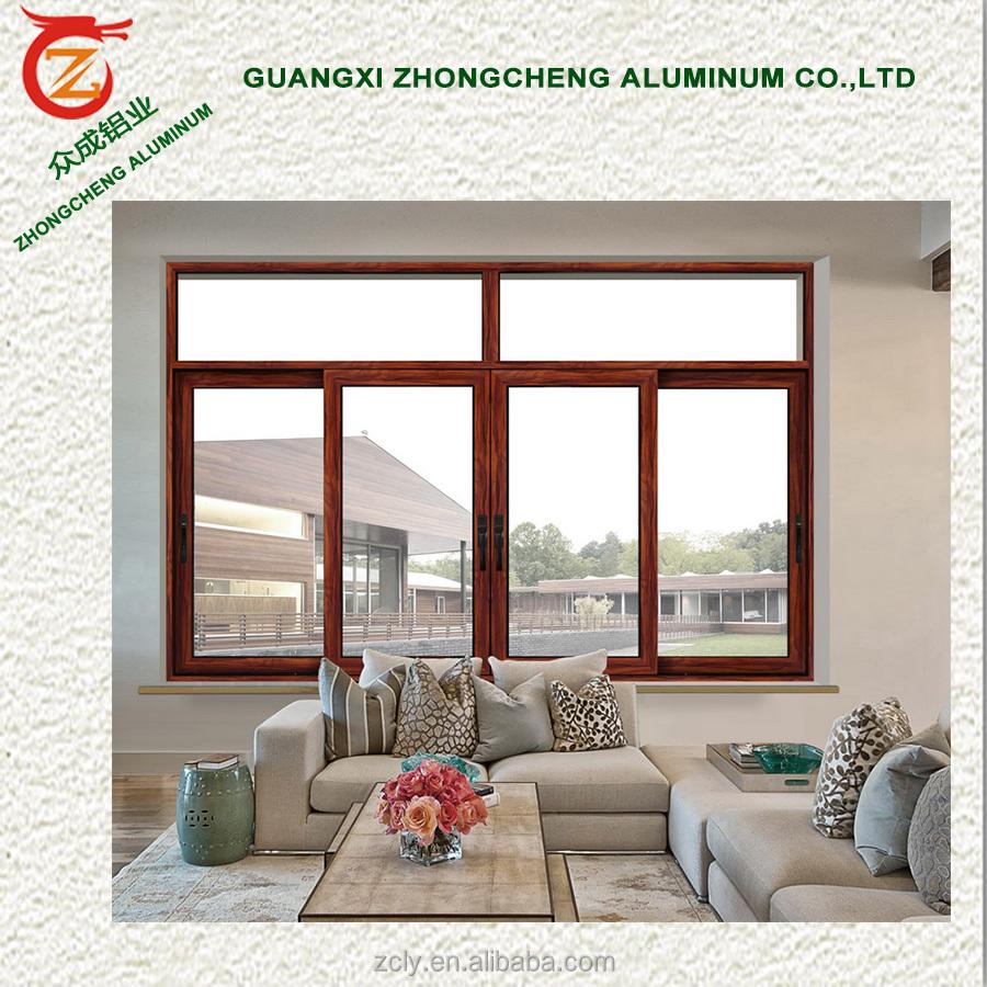 Precio de f brica de aluminio ventana corredera balc n u for Ventanas doble vidrio