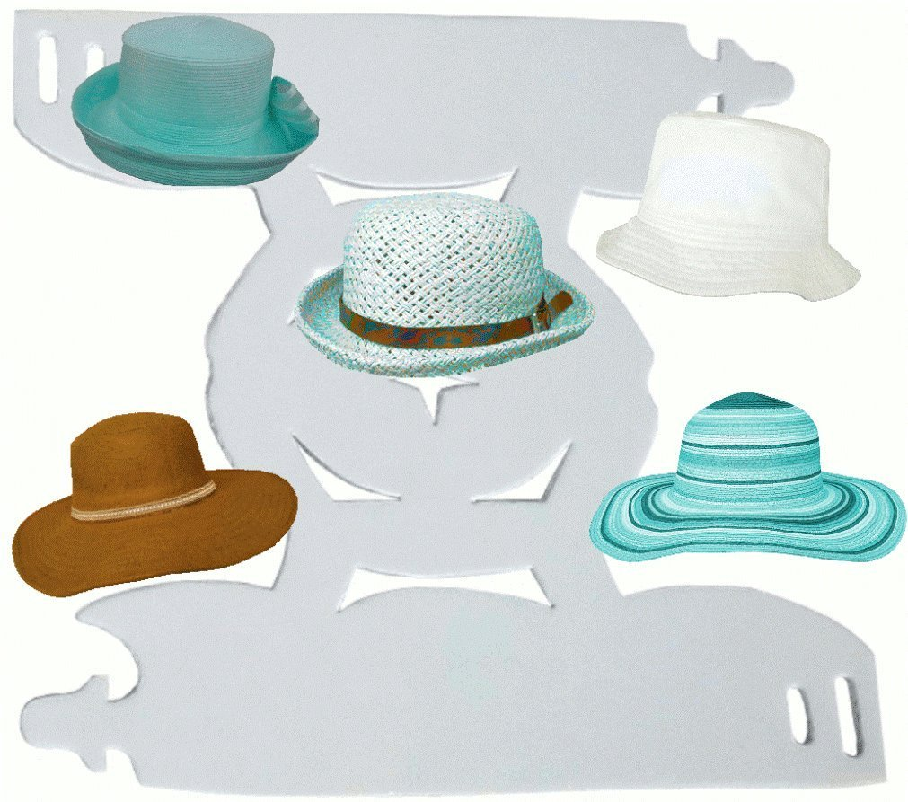 b8487bd20a54cf Get Quotations · 1Pk. White-Deluxe Floppy and Bucket Hat Shaper | Hat  Liner| Fashion Hat