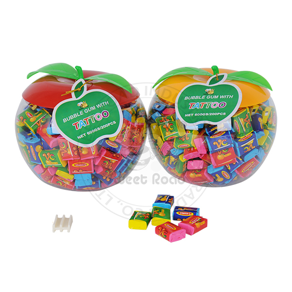 Big Apple Tattoo VC Square Bubble Gum