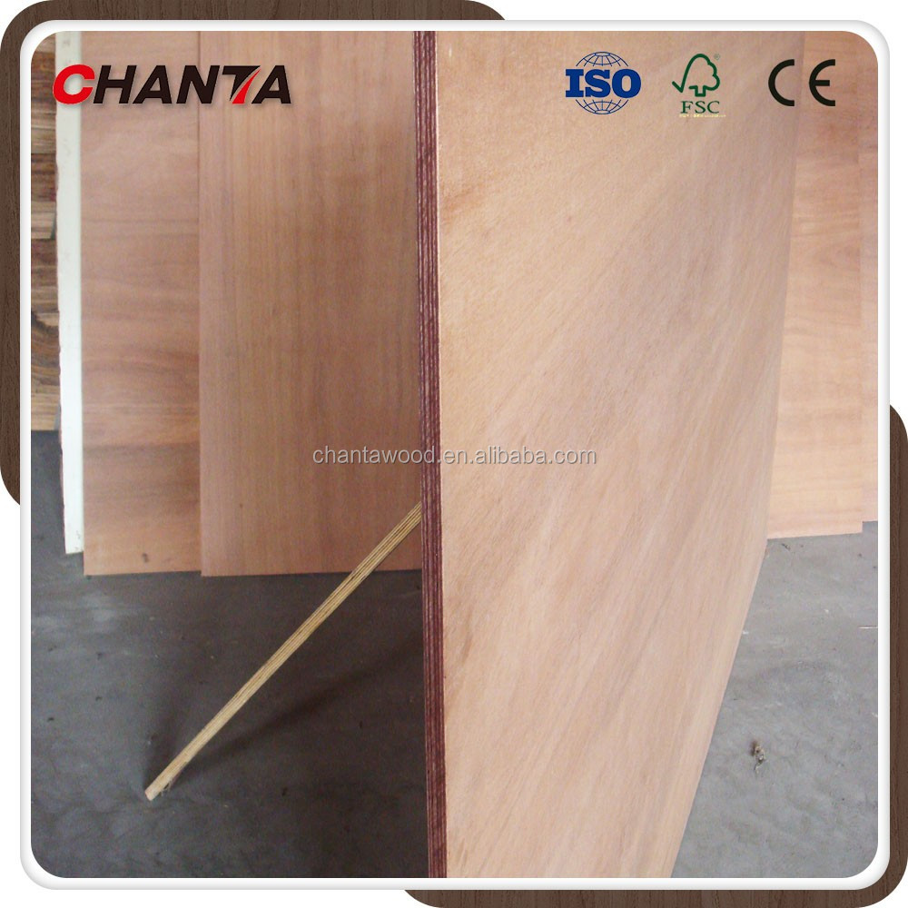 10mm waterproof commercial keruing plywood for packing