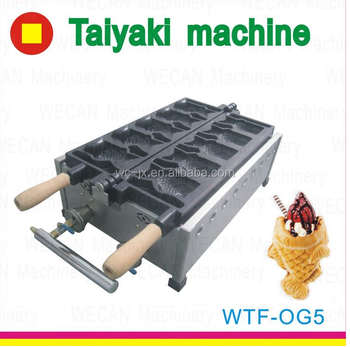 WFT12 Japanese Snack machine Electric Japanese fish cake machine taiyaki waffle baker Wholesale Japanese taiyaki grill