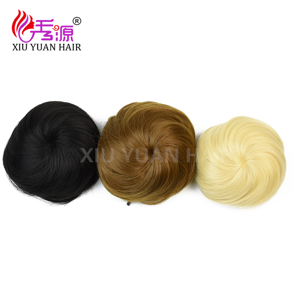 Synthetic Hair Accessories Roller Hair Pieces Ladies Chignons Fake Hair Bun With Elastic