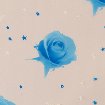 Latest product OEM quality blue flower opp clear film