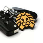 cute animal lion soft pvc custom rubber keychain for car keys