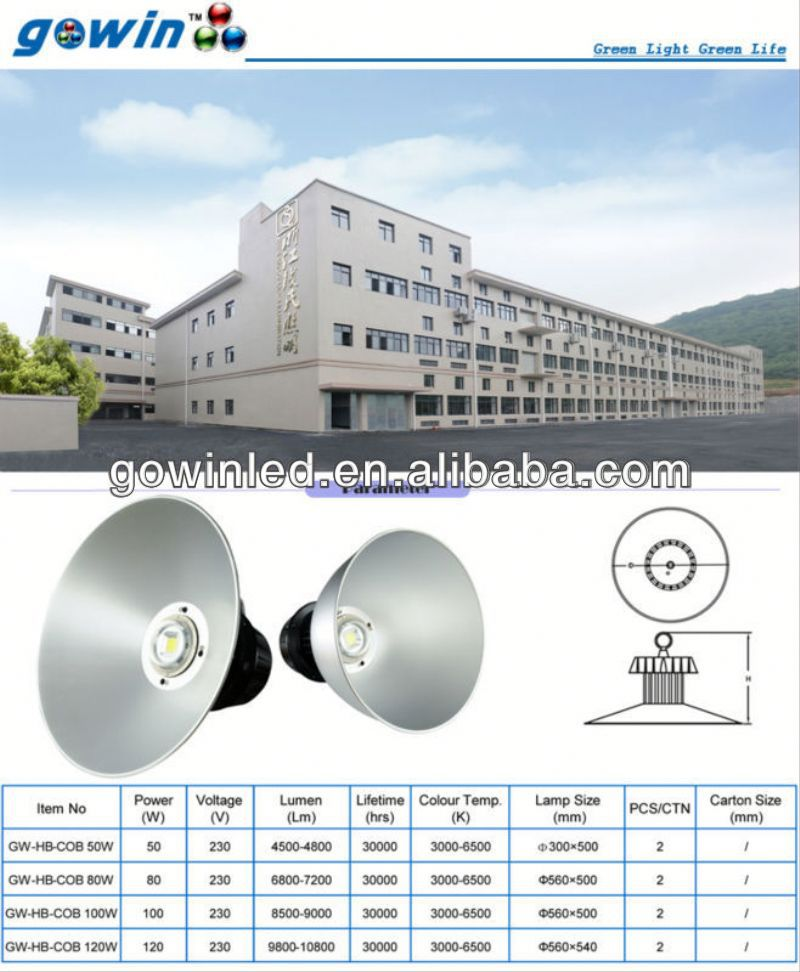 LED High Bay Light 70w high bay led/led industrial machine work lights led solar wall lamp