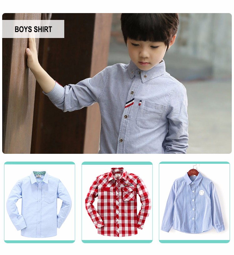 2019 latest designs breathable shirt for boys