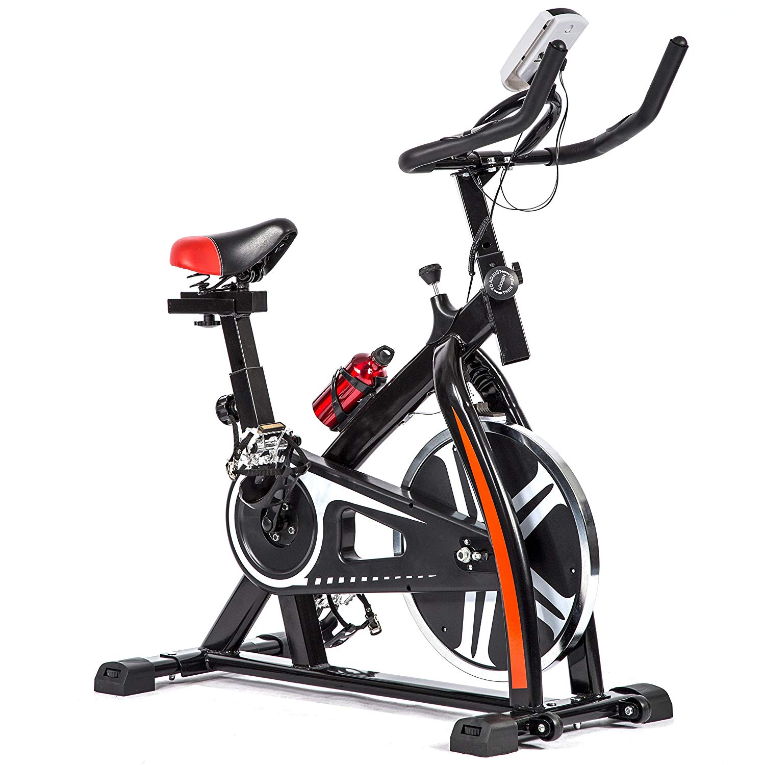 a2378784fdd Get Quotations · BestMassage Cycling Bike Exercise Bike Pro Indoor Cycling Spin  Bike Trainer Bicycle Cardio Fitness Heart Pulse