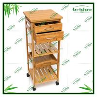 International Bamboo Space Saving Cart bamboo kitchen trolley