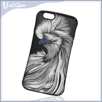 2016 Fashion 3D color animal pattern painted durable pc hard back cover anti-skid men's case for iphone 5 6 plus 7s phone case