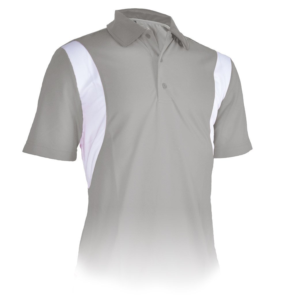 83065085f19 Get Quotations · Monterey Club Mens Dry Swing Contrast Side Energie  Colorblock Polo #1195