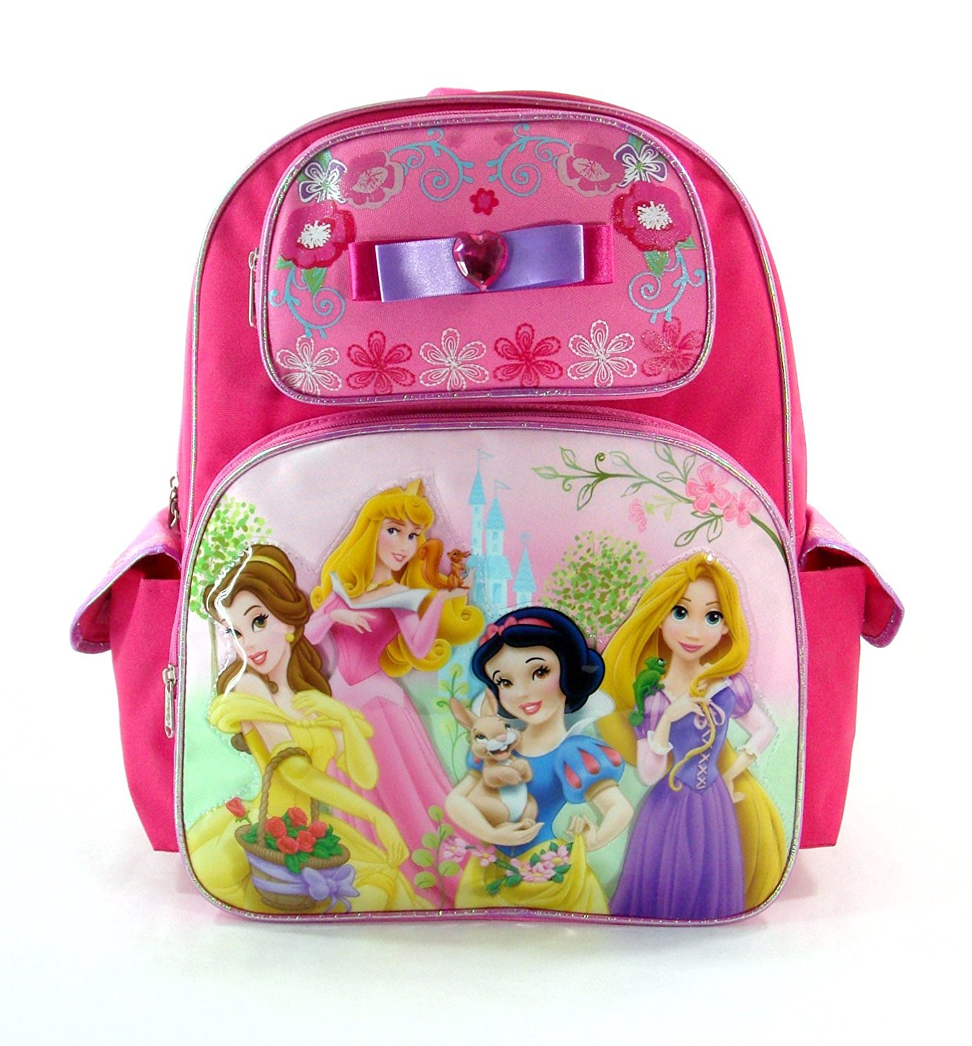 f26747a8dff Disney Princess Tangled Aurora Snow White Pink Large Backpack Bag Tote 16