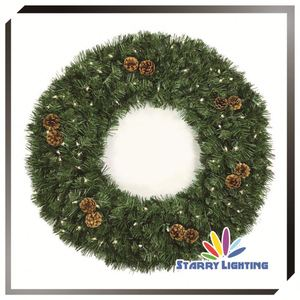 Large Outdoor Lighted Christmas Wreaths Whole Suppliers Alibaba