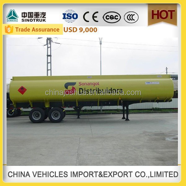 CHINA SINOTRUCK HOWO high quality 45000 liters oil tanker trailer liquid nitrogen tank fuel storage tank cryogenic oxygen tank