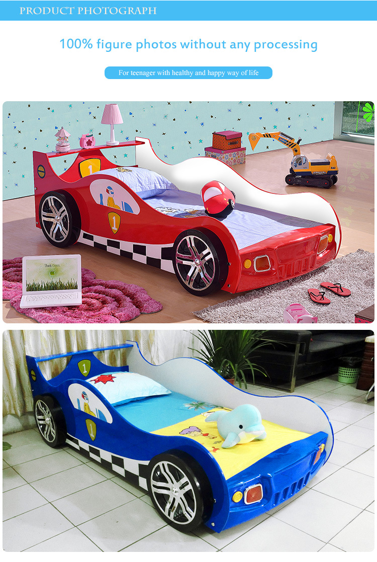 2015 New Design Wooden Cartoon Children Car Bed TC1