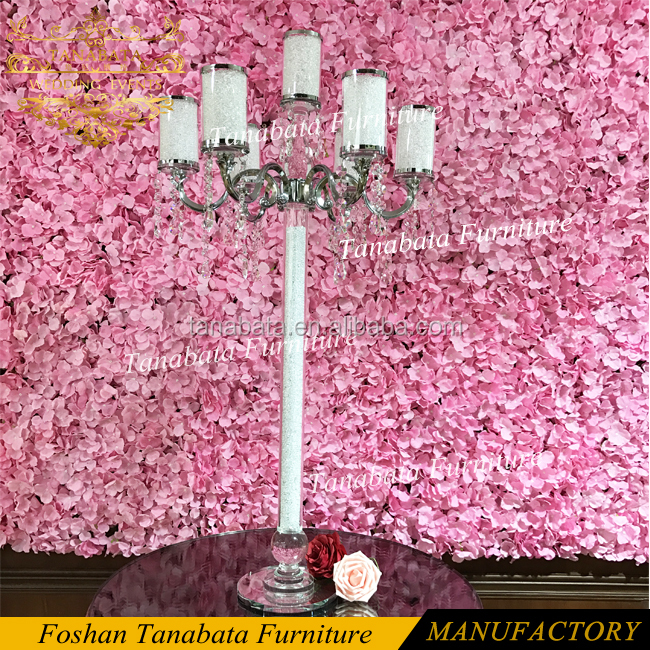 Design romantic event wedding table centerpieces crystal candelabra