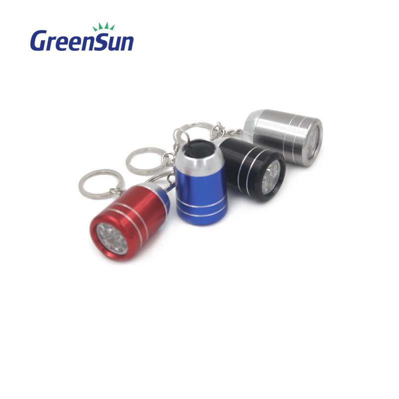 DEL Lampe de poche et porte-clés avec gravure laser au choix