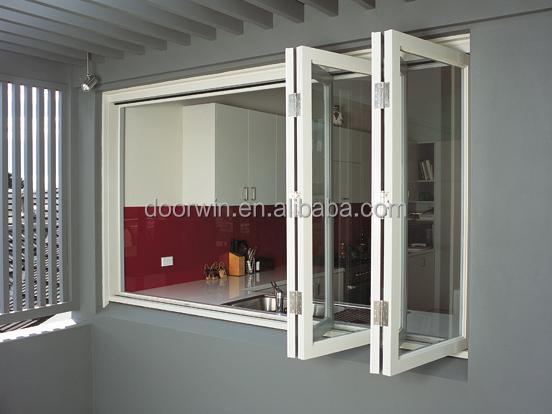 De vidrio doble de aluminio plegable ventana para gabinete for Ventanas de aluminio para cocina