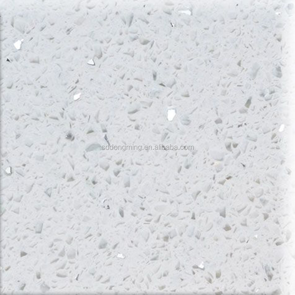 Sparkling White Quartz Countertop With Mirror Flecks