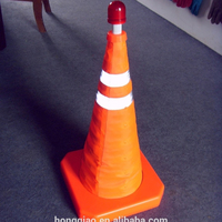 Wholesale Orange ABS Collapsible Traffic Safety Cone