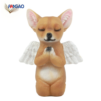 Inspirational Heavenly Taco Chihuahua Puppy Sculpture Decor Adorable  Praying Angel Chihuahua Pet Memorial Dog Statue