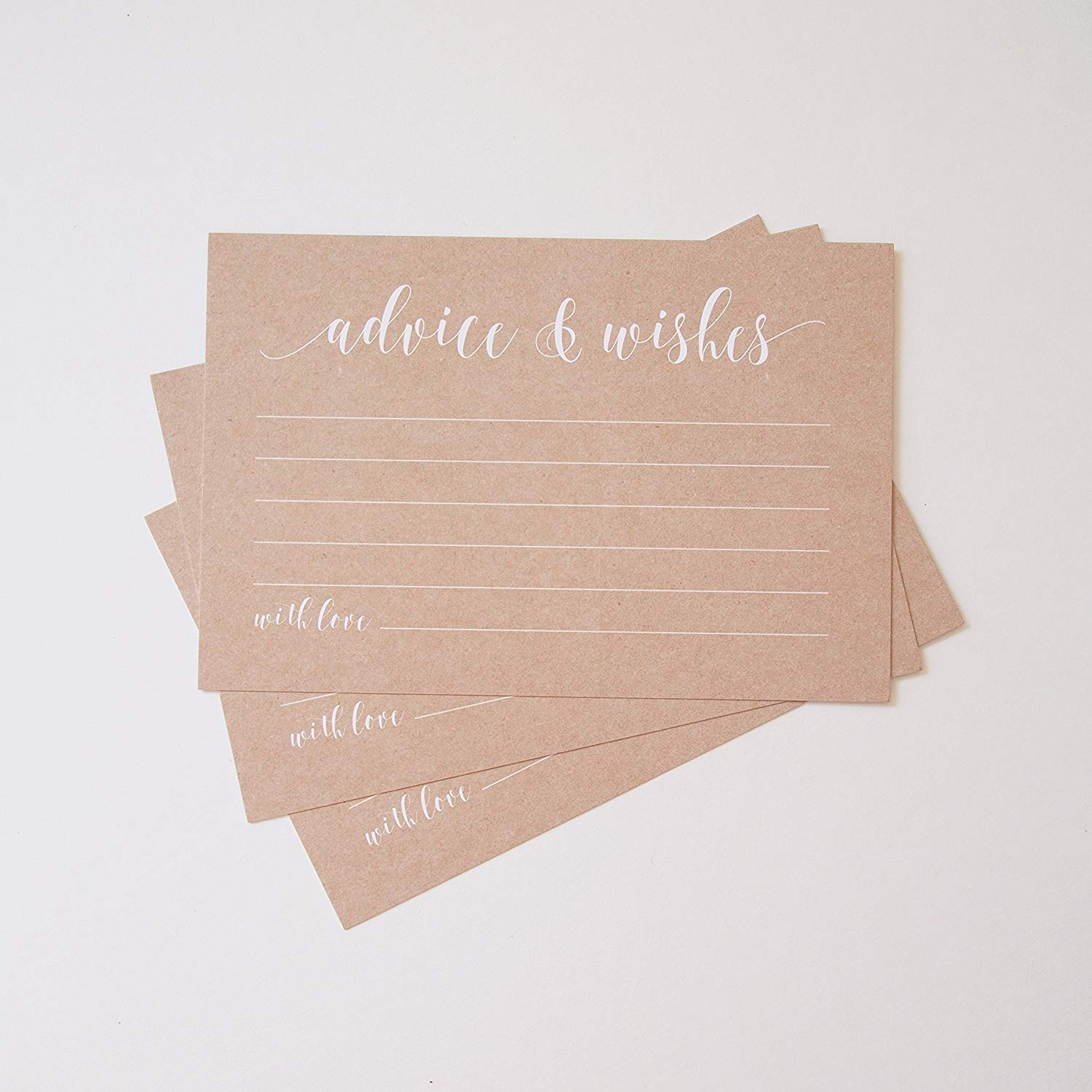 kraft rustic advice cards well wishes bridal shower games wedding reception baby