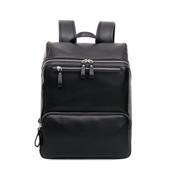 35b24e01243 PU zwart vintage stijl rugzak heren leisure zakelijke rugzak tieners tas  computer laptop lederen rugzak tas