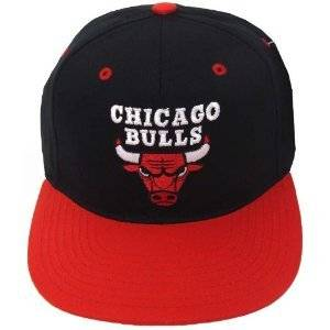 Get Quotations · NBA Chicago Bulls Snapback Cotton Hat Cap - Black   Red  Bill c8104af8fbd