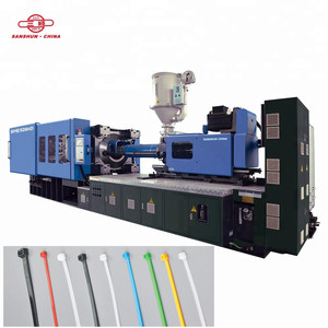 SANSHUN Nylon Cable Tie Making Automatic Injection Moulding Machine 528TON