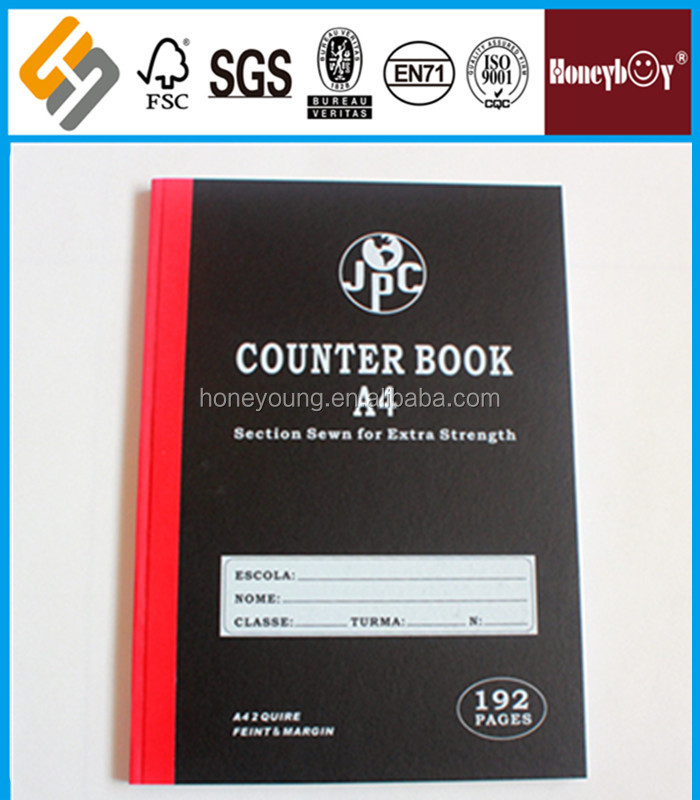 bulk producing paper cover A4 counter book