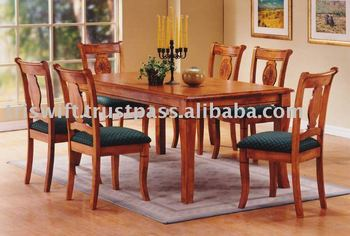 Great Wooden Dining Set (1+6), Classical Wooden Chair, Dining Chair,