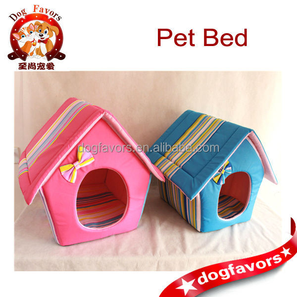House Shaped Pet Home, Cat House, Dog Home with Cute Bow