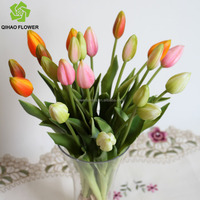 In stock for buy Make artificial tulip bouquets PU flowers for clothing store decor