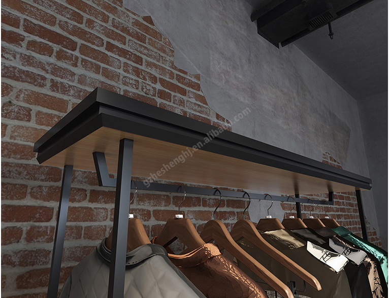 Gondola dispaly rack .clothing store fixtures. industrial style HA01Z04