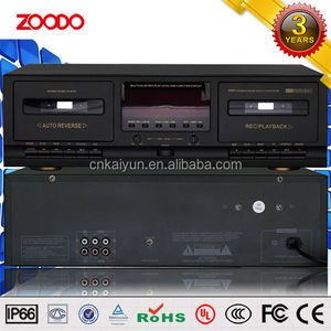 JS-2215 Stereo Double MP3 Music Cassette Player For PA System